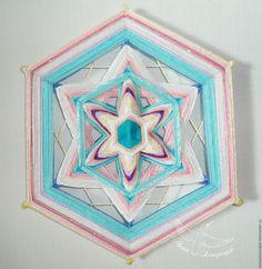Купить Талисман на счастье - мандала из ниток «Кристалл внутренней гармонии». - мандала, оберег, талисман, амулет