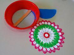 Very easy tricky diwali special rangoli design. - YouTube