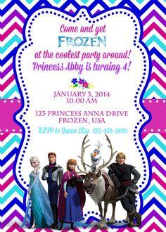 Disney Frozen Birthday Invite Boy and Girl Versions by ckfireboots, $10.00
