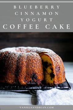 This Blueberry Coffee Cake recipe is moist, tender, light and packed with wholesome ingredients. Share with brunch or as an afternoon snack. #coffeecake #blueberrycake #cake #dessert | vanillaandbean.com @vanillaandbean Cupcakes, Cupcake Cakes, Bundt Cakes, Baking Recipes, Cake Recipes, Dessert Recipes, Dessert Food, Bean Recipes, Brunch Recipes