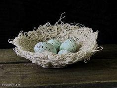 Reposhture Studio: Drop Cloth Birds Nest or Textured Bowl