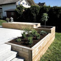 Luxury Interior Designers London – Terrasse ideen - sloped back yard landscaping Terrace Garden, Garden Beds, Indoor Garden, Outdoor Gardens, Terrace Ideas, Conservatory Ideas, Garden Villa, Garden Art, Jardim Natural