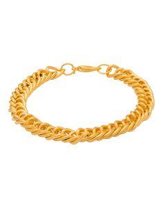Golden Men's Bracelet in Link Design