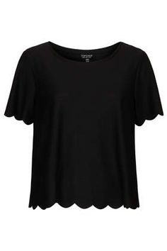 Perfect Black Scallop Frill Tee - cheap, too