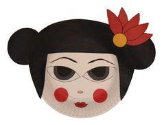 Japan-Geisha Paper Plate Craft