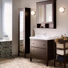 A traditional approach to a tidy bathroom! The IKEA HEMNES ...