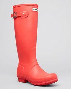 Original Stripe Hunter Boot // Coral -- Bloomingdales