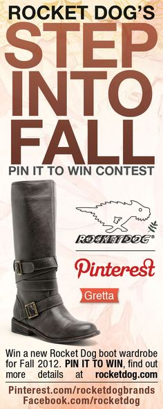 Rocket Dog's STEP INTO FALL Contest  Boot-2 GRETTA #RDStepIntoFall    Last few days to enter