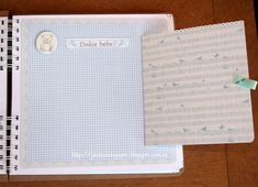 Jardinet de paper Scrapbooking: Álbum de firmas para BAUTIZO