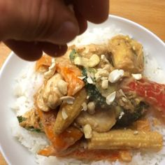 The Body Coach:cashew butter chicken with jasmine rice!