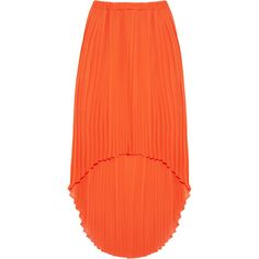 MICHAEL Michael Kors Pleated chiffon dipped-hem skirt ($220) via Polyvore