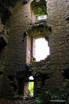 The ruins of Ballintober Castle, Co. Roscommon, it was built by the O'Connors in circa 1300 AD