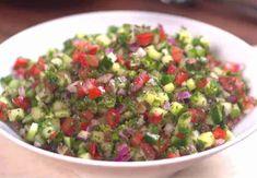 Medelhavsinspirerad gurksallad Lchf, Keto, Guacamole, Salsa, Low Carb, Mexican, Ethnic Recipes, Food, Essen
