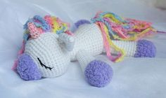 Sleeping unicorn pony crochet pattern free