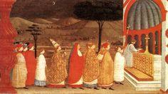 'Miracle de l hostie Desecrated (Scène 3)', panneau de Paolo Uccello (1397-1475, Italy)