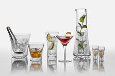 A luxurious Cumbria crystal barware set, perfect for cocktails on deck. Cumbria, Carafe, Whisky, Crystal Glassware, Glass Pitchers, Crystal Collection, Cocktail Glass, Glass Table, Cut Glass