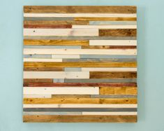 Reclaimed wood wall art Rustic wall art The Northern