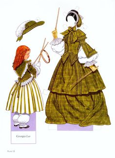 FASHIONS OF THE OLD SOUTH Paper Dolls by Tom Tierney 6 of 15