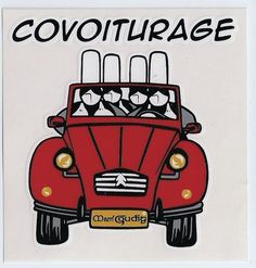 """autocollant """" covoiturage """" Celtic Culture, Couple Photography, Brittany, Automobile, Stickers, Humor, Illustration, Fun, French Tips"""