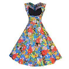 Fashion Bug Plus Size Women's 1950s Vintage Rockabilly Dress Spring Garden Party Picnic Dress www.fashionbug.us #plussize #Retro #FashionBug #Vintage #Rockabilly #PinUp