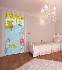 Skating Farm Animals Door Mural Custom Wall Murals, Vinyl Doors, Door Murals, Cool Doors, Metallic Paint, Farm Animals, Skating, Kids Bedroom, Toddler Bed