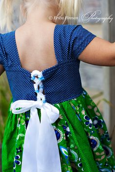 Patchwork Milk Maid Lace up Dress PDF by TenderfeetStitches, $6.90