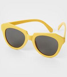Yellow Angular Cookie Sunglasses