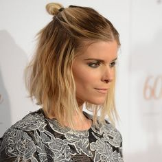 For Those Days When You're Indecisive: How to Do a Half-Down Topknot