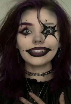 Gothic Eye Makeup, Demon Makeup, Punk Makeup, Edgy Makeup, Grunge Makeup, Eye Makeup Art, Scary Makeup, Dark Fantasy Makeup, Makeup Tutorials