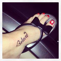 Tattoo~Jesus Says I Am His Beloved