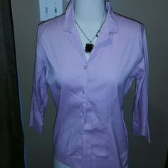 Eddie Bauer Blouse Eddie Bauer button down top Sz Med Eddie Bauer Tops Button Down Shirts