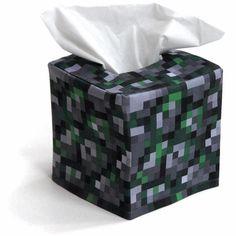 Minecraft - Mossy stone block tissue cover - $16.00 on Etsy