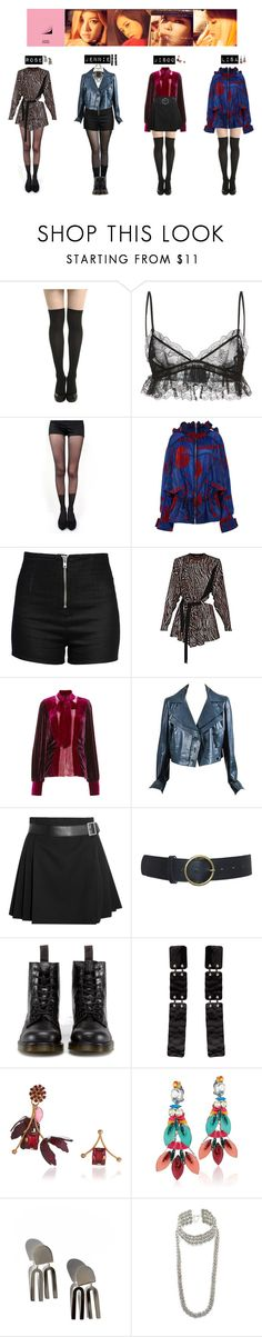 """BLACK PINK - PLAYING WITH FIRE❤"" by vvvan99 ❤ liked on Polyvore featuring Giambattista Valli, Pretty Polly, STELLA McCARTNEY, Love Moschino, Anna Sui, Chanel, Alexander McQueen, Raina, Dr. Martens and Proenza Schouler"