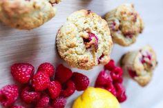Bringebær- og sitronmuffins