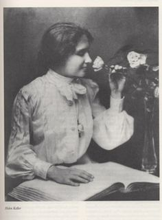 """Helen Keller (1880-1968), American author and the first deafblind person to earn a B.A. - I recommend reading her book """"The World I Live In"""" (1908)"""