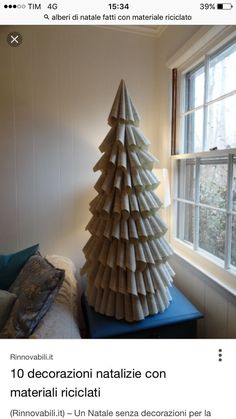 Christmas Decoration Noel, Bookcase, Paper Trees, Christmas Trees, Shelves, Bookcases, Book Furniture, Bookcase Closet