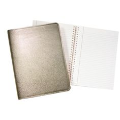 graphic image metallic notebook