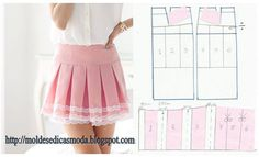 Amazing Sewing Patterns Clone Your Clothes Ideas. Enchanting Sewing Patterns Clone Your Clothes Ideas. Skirt Patterns Sewing, Sewing Patterns Free, Free Sewing, Sewing Tutorials, Clothing Patterns, Diy Clothing, Sewing Clothes, Barbie Clothes, Fashion Sewing