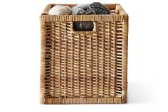 BRANÄS is one of the many small storage and organisers you find at IKEA. It's made of hand-woven rattan, has practical handles and fits the KALLAX shelving units. Slight colour variations are a natural part of rattan and make each basket unique.