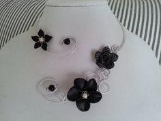 FREE EARRINGS  Wedding jewelry   Open collar par LesBijouxLibellule