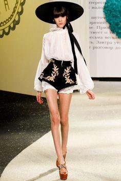 Ulyana Sergeenko Spring 2013 Couture Fashion Show - Ewa Wladymiruk (CITY)
