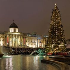 Christmas in London. Be traditional with carol singing at Trafalgar Square.