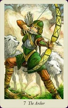 The Archer! From the Wild Wood Tarot Deck. Adding this to my tarot bag of tricks! www.TheLittleWitch.com
