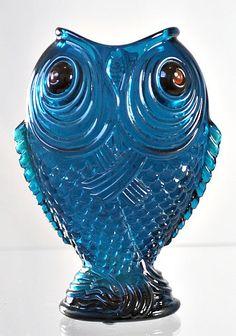 "Emile Gallé Enameled Blue ""Poissons Siamois"" Vase from Scholaert Cassel Galleries"
