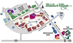 Peddler s Village Map Travel Pinterest