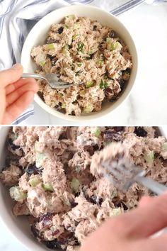 Tuna Recipes, Easy Salad Recipes, Vegetarian Recipes, Healthy Recipes, Greek Yogurt Tuna Salad, Greek Yogurt Recipes, Greek Yogurt Mayo Recipe, Healthy Tuna Sandwich, Healthy Tuna Salad