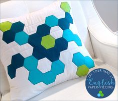 Decorator Pillows with English Paper Piecing Accents: Dritz® Quilting | Sew4Home