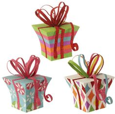 Shelley B Home and Holiday - RAZ Candy Sprinkles Glittered 4.5 Inch Present Ornaments, $29.00 (http://shelleybhomeandholiday.com/raz-candy-sprinkles-glittered-4-5-inch-present-ornaments/)