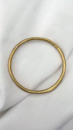 Irregular Bangle, contemporary brass jewelry. Mahnal.com