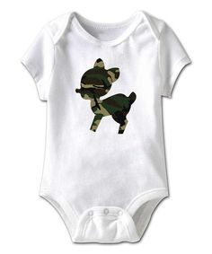Take a look at this White Camo Deer Bodysuit - Infant by American Classics on #zulily today!